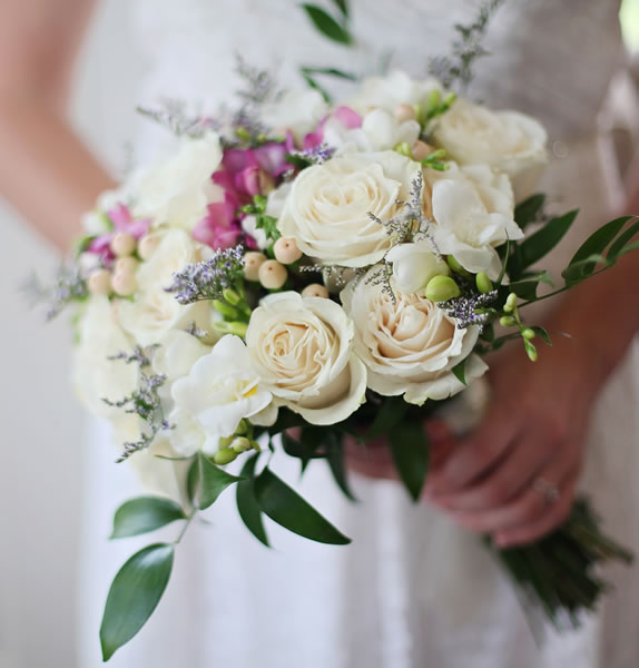 Wedding flowers at Capel Manor College